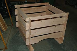 Heart Redwood Compost Bin